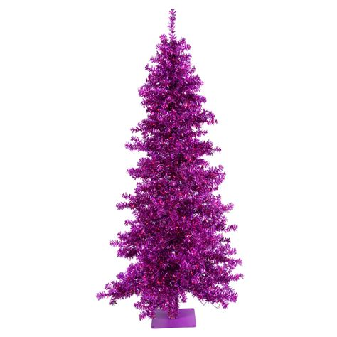 purple artificial christmas trees