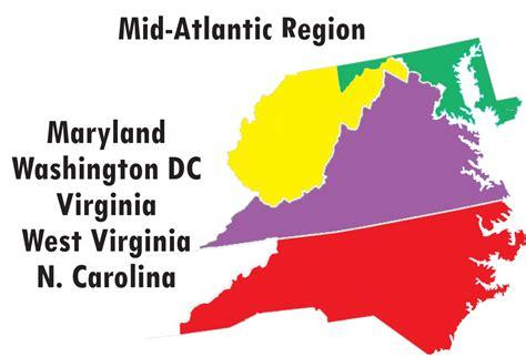 us map mid atlantic region mid atlantic region williams association