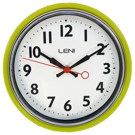 buy clock buy leni essential wall clock lime online purely wall clocks