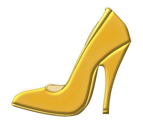 free golden high heel shoe clip