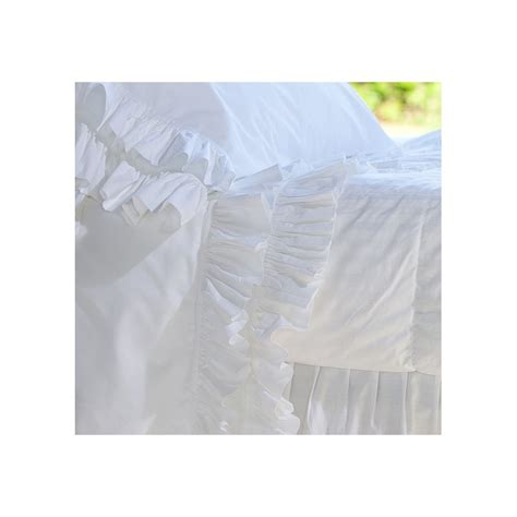 White Ruffle Bed Set Bedding Set White Quot Ruffle Quot By Blanc Mariclo On Decochic Fr