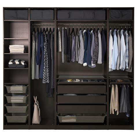 guardaroba pax pax wardrobe black brown 250x58x236 cm ikea