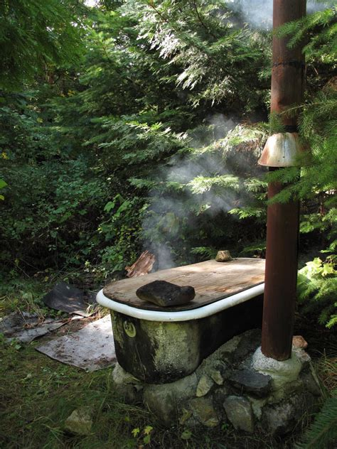 How To Build In A Bathtub Wood Fire Bath Tub Forest Bath More Pics For The