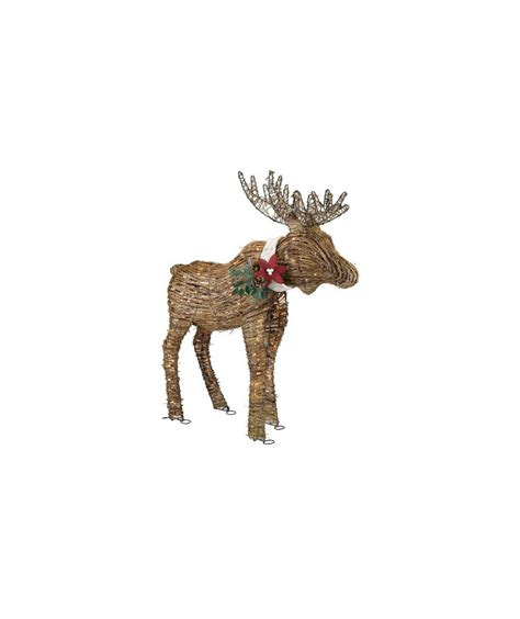 lighted outdoor christmas moose lighted rattan moose 6 exterior decorations real simple