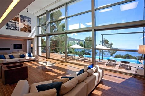 living room in mansion world of architecture modern mansion on the cliffs of