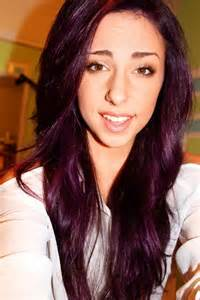 purple brown hair color pravana violet light to medium brown hair