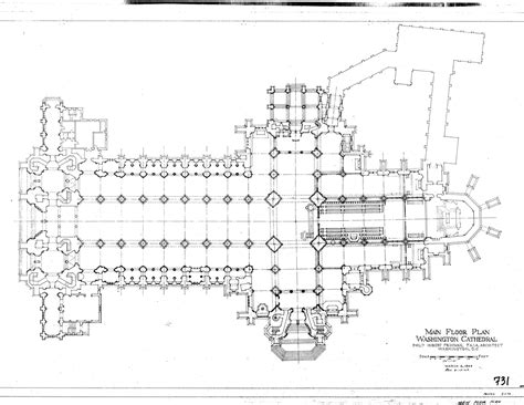 cathedral floor plan washington national cathedral collection at the national