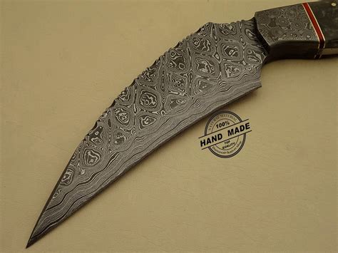 Handmade Decorative - amazing damascus kukuri knife custom handmade damascus steel