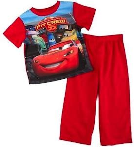 Pajamas Caluby Team Lightning Mcqueen Cars 2 Pit Crew Pajama Set Thlog