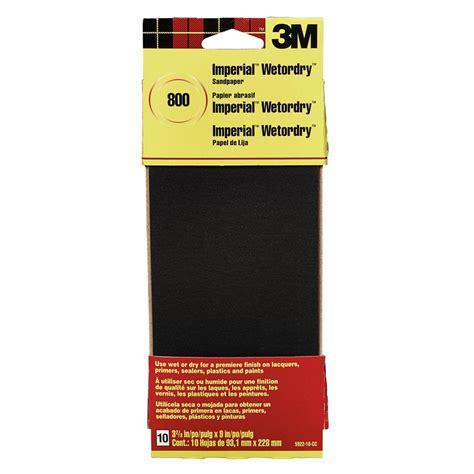 800 Grit Sandpaper 3m imperial wetordry 3 2 3 in x 9 in 800 grit sandpaper