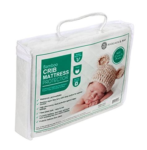 Crib Mattress Topper Soft Ultra Soft Waterproof Crib Mattress Protector Pad From Bamboo Rayon Fiber By Margaux May