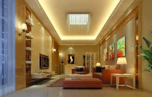 Modern Warm Living Room Decoration