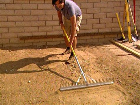 How To Lay Patio Pavers On Dirt Laying Pavers For A Backyard Patio Hgtv