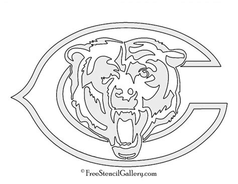 nfl bears coloring pages chicago bears logo page coloring pages