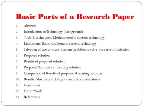 what are the different parts of a research paper background research paper 9 background check all