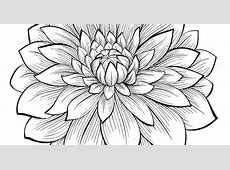 1 Dahlias to print & color, From the gallery : Flowers And ... Tribal Print Pattern Black And White