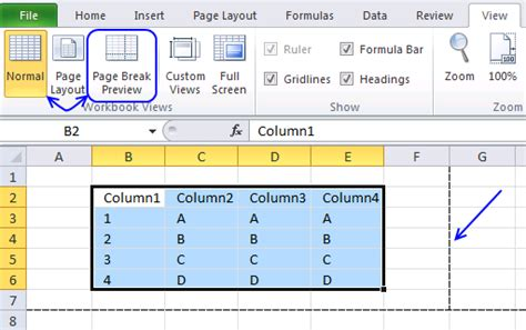 remove page layout lines excel remove print preview lines page breaks