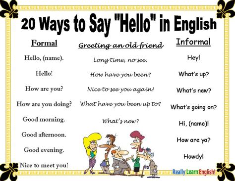 5 Yellow Things To Say Hello To by 20 Ways To Say Quot Hello Quot In Esl Speak Efl