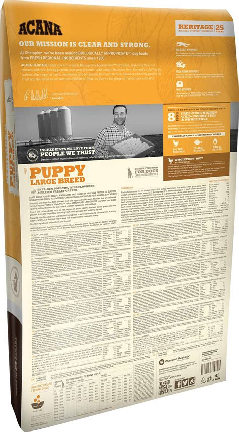 acana puppy puppy large breed acana pet foods