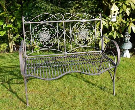 french shabby chic garden bench 2 seater vintage metal