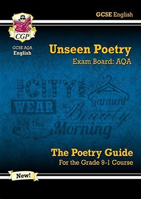 aqa english literature unseen new gcse english literature aqa unseen poetry guide for the grade 9 1 course ebay