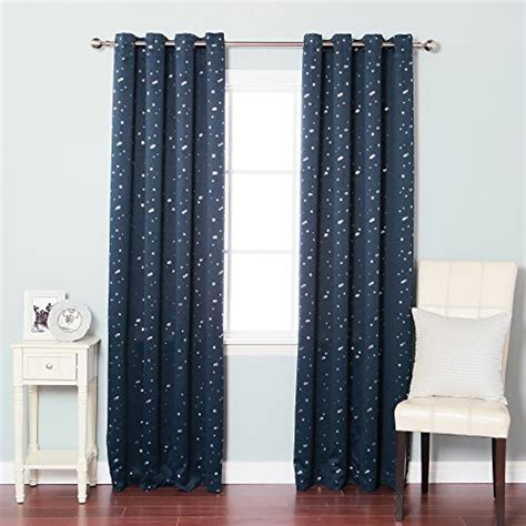 star blackout curtains best home fashion star print thermal insulated blackout
