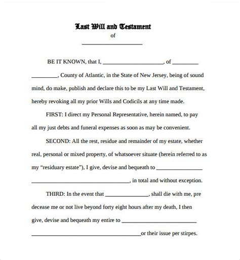 Blank Last Will And Testament Template Templates Resume Exles Klynzoryko Last Will And Testament Cover Page Template