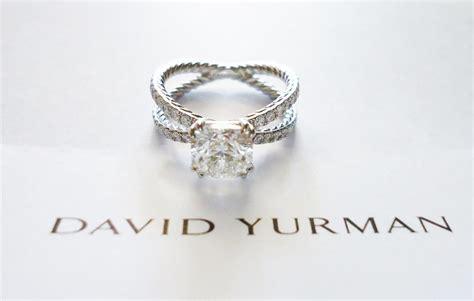 david yurman platinum pave crossover engagement