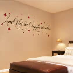 Wall Sticker Phrases and they lived happily ever after with stars love
