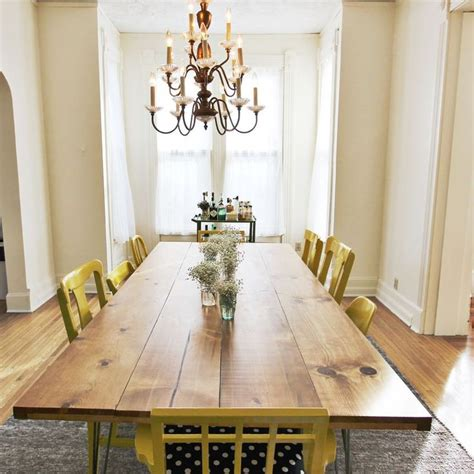 Diy Dining Room Table Ideas Diy Dining Table Home Crafts Pinterest