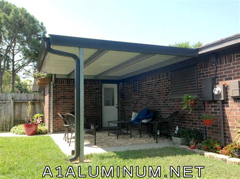 Steel Patio Steel Patio Cover With Offset Post To Meet Windstorm In