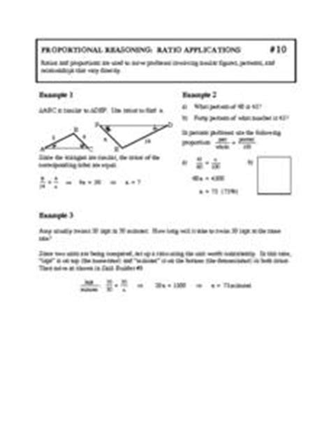 Proportional Reasoning Worksheets by Proportional Reasoning Ratio Applications 8th Grade