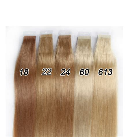 hair colour 60 8a skin weft hair extension 18 22 inch peruvian tape in