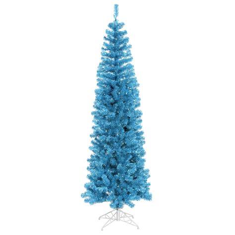 4 5 foot sky blue pencil christmas tree blue mini lights