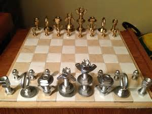 Chess Styles how to make a macgyver style chess set using just nuts amp bolts