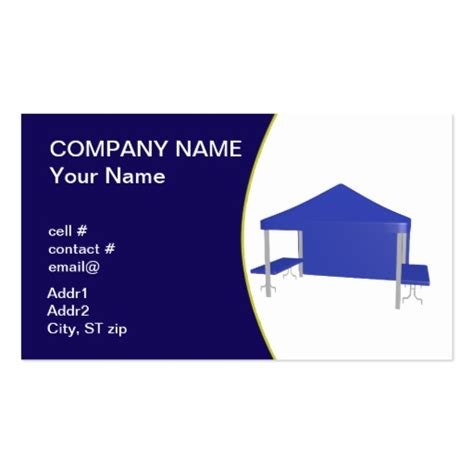 tent business cards templates blue trade show tent business card template zazzle