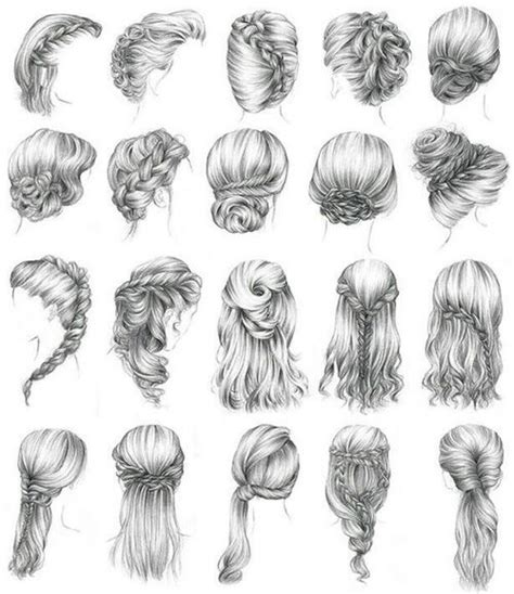 hairstyles for long hair drawing cool hair styles image 1573922 by voron777 on favim com