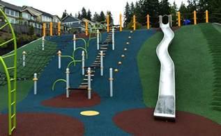 a playground on a hill queenston park playground