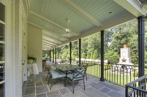 Haint Blue Porch Ceiling by Southgate Residential Haint Blue Porch Ceilings