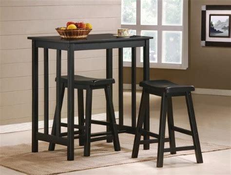 get 3 black finish table saddle bar stool set