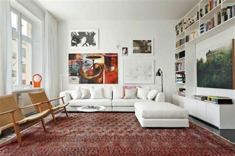 hängematte richtig aufhängen wohnzimmer idee wandbilder