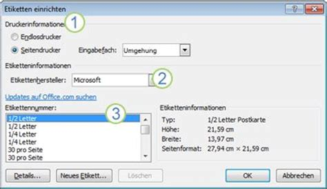 Etiketten Drucken Im Word by Erstellen Und Drucken Von Etiketten Word