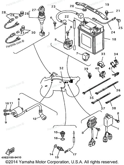 2001 yamaha banshee wiring diagram electrical schematic