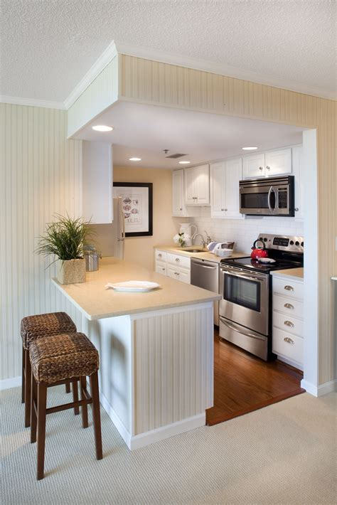 apartment kitchen design in small space condo small but perfect for this beach front condo kitchen