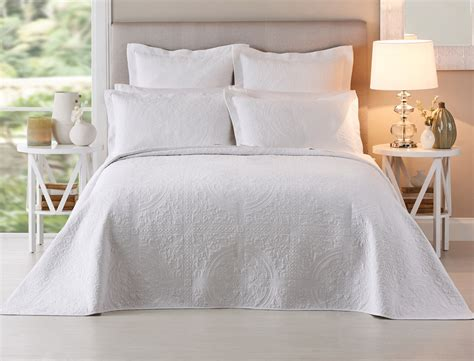 white bed coverlet artemida white bedspread bed bath n table