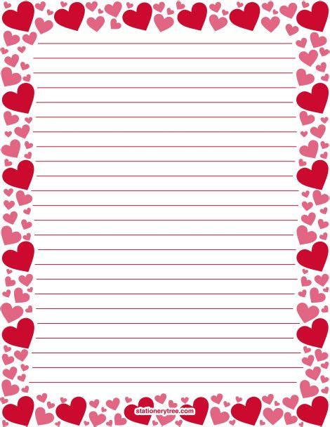 printable lined heart paper 152 best stationery at stationerytree com images on