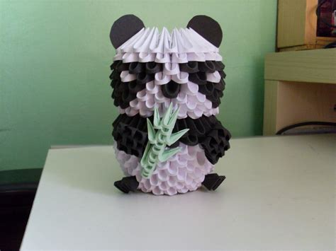 How To Make A 3d Origami Panda - 3d origami panda album skong 3d origami