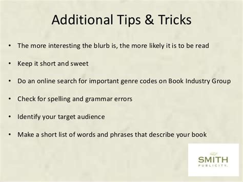 how to write a great book blurb the write way cover your back writing the blurb smith publicity