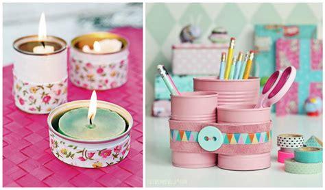 decorar latas papel ideas para reciclar y decorar latas que tenemos en casa