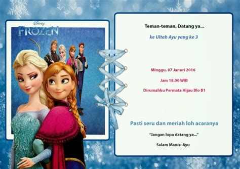 Promo Termurah Kostum Elsa Frozen Gaun Busana Ulang Tahun Dress frozen elsa ulang tahun kartu undangan ulang tahun